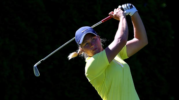 Suzann Pettersen during the third-round of the Safeway Classic Presented by Coca-Cola