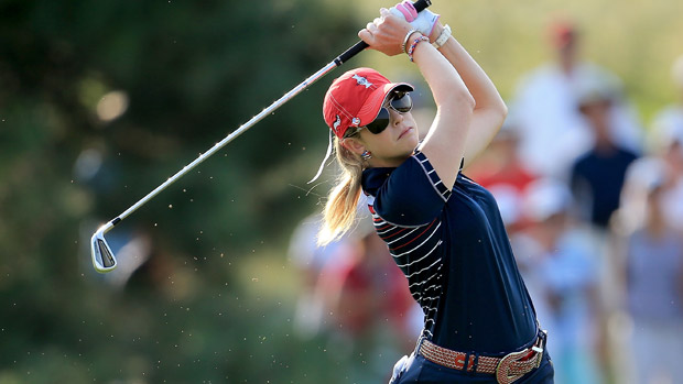 Paula Creamer during Friday Morning Foursome Matches at the Solheim Cup