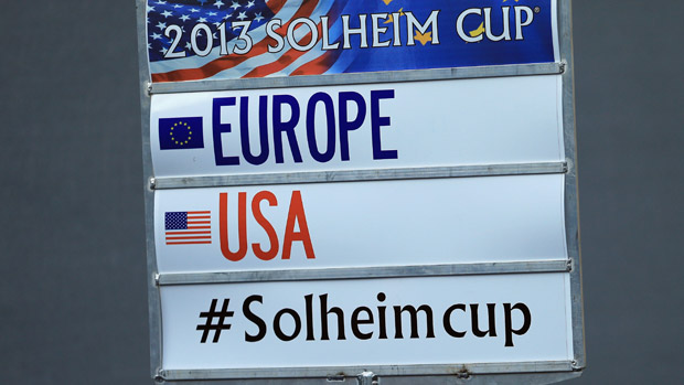 The scoring standard during Friday Morning Foursome Matches at the Solheim Cup