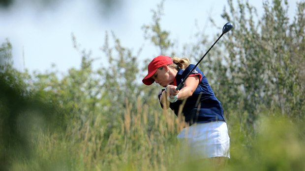 Cristie Kerr during the afternoon fourball matches for the Solheim Cup