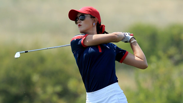 Michelle Wie during the afternoon fourball matches for the Solheim Cup