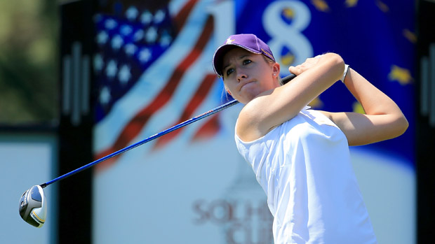 Jodi Ewart Shadoff during the third day of practice at the Solheim Cup