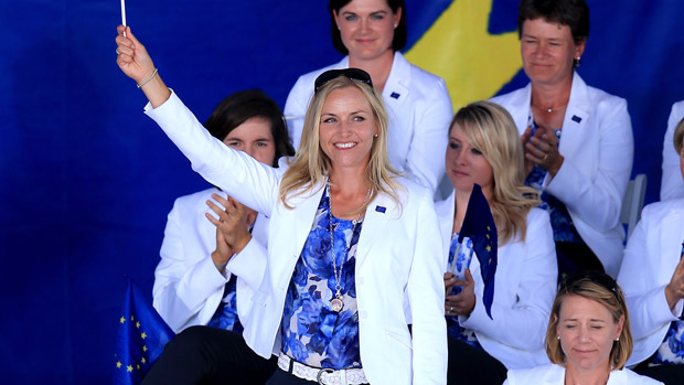 Carin Koch during the Opening Ceremony of the 2013 Solheim Cup