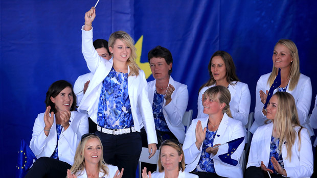Jodi Ewart Shadoff during the Opening Ceremony of the 2013 Solheim Cup