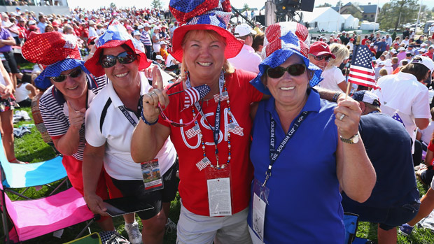 Fans during the Opening Ceremony of the 2013 Solheim Cup