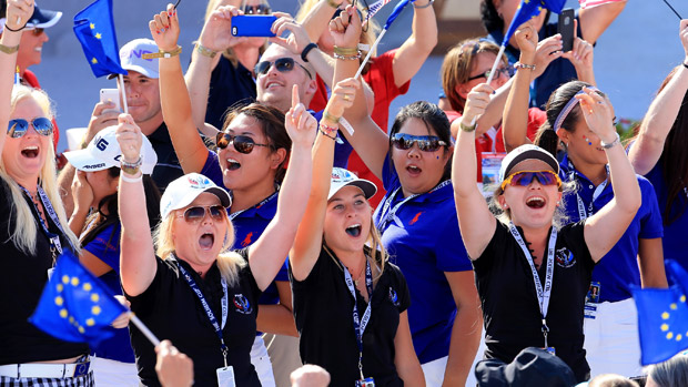 Ping Junior Solheim Cup teams during the Opening Ceremony of the 2013 Solheim Cup