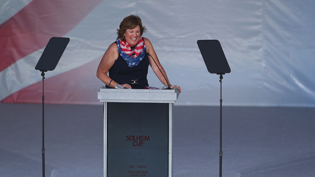 Meg Mallon during the Opening Ceremony of the 2013 Solheim Cup