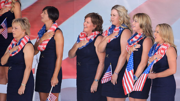 United States team during the Opening Ceremony of the 2013 Solheim Cup