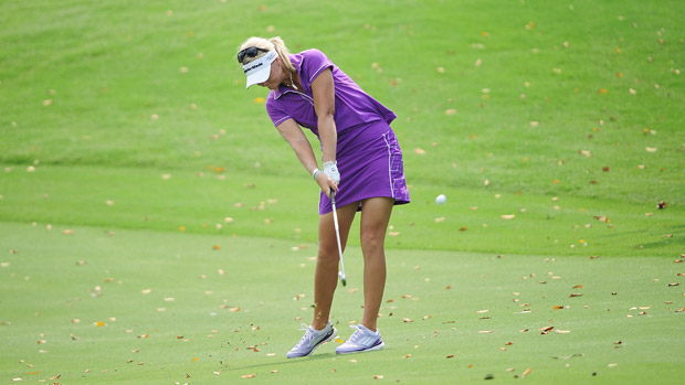 Anna Nordqvist during final round at Honda LPGA Thailand