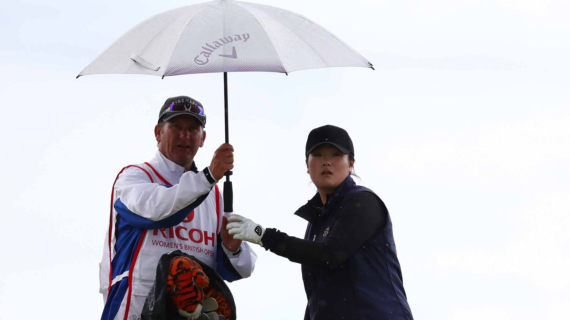 Angel Yin of the United States looks down the 4th hole during the third round of the Ricoh Women's British Open at Kingsbarns Golf Links