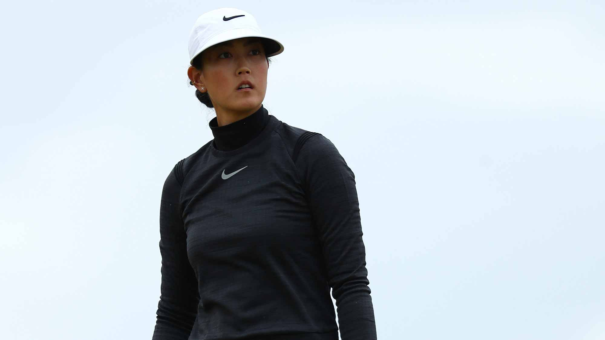 Michelle Wie of the United States looks down the 4th hole during the final round of the Ricoh Women's British Open at Kingsbarns Golf Links