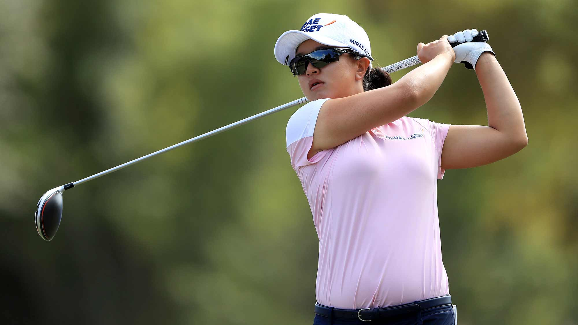 Sei Young Kim of South Korea plays a shot on the third hole during the third round of the CME Group Tour Championship at Tiburon Golf Club on November 23, 2019 in Naples, Florida