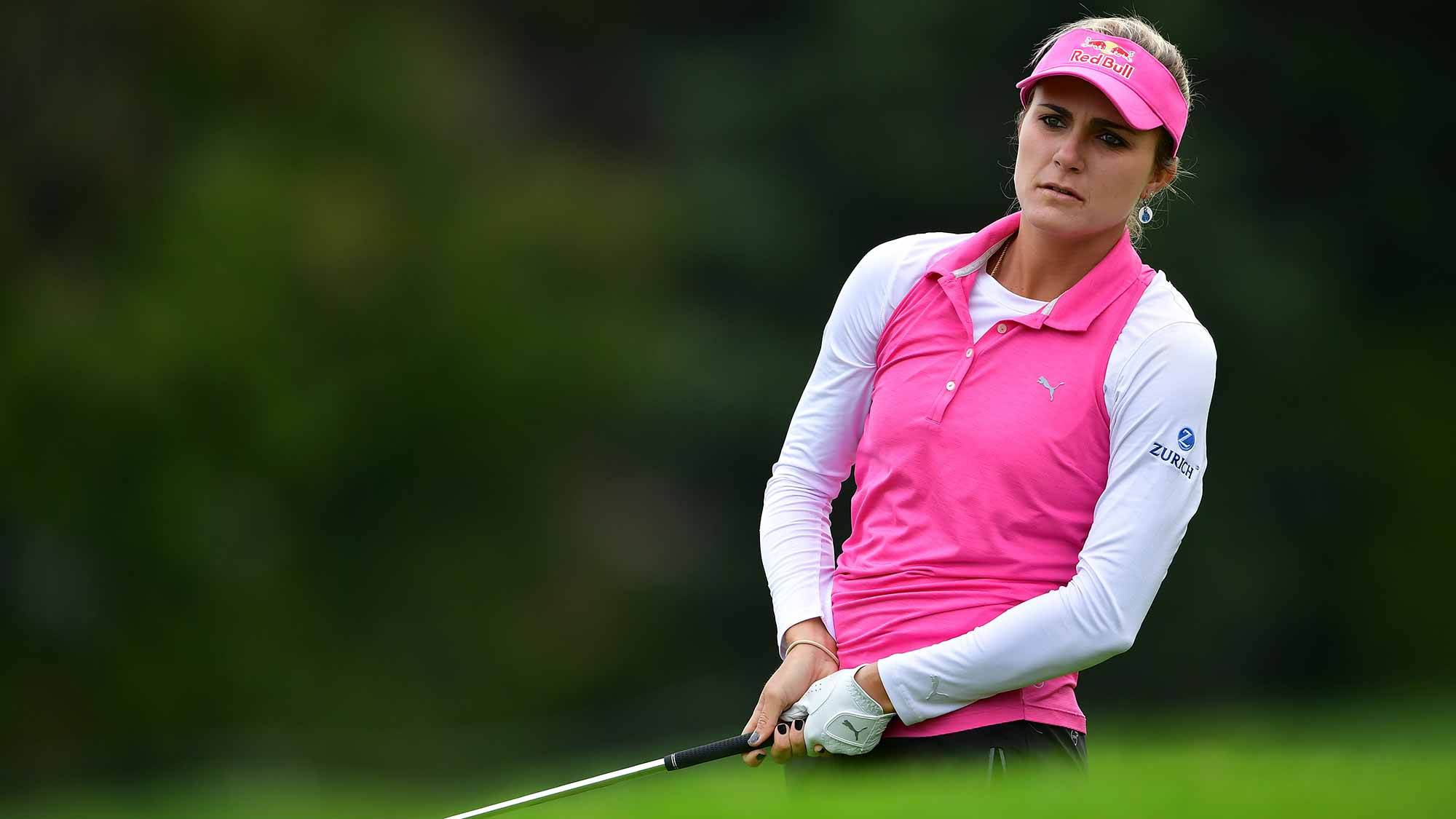 Lexi Thompson during the pro-am prior to the start of the Evian Championship at Evian Resort Golf Club