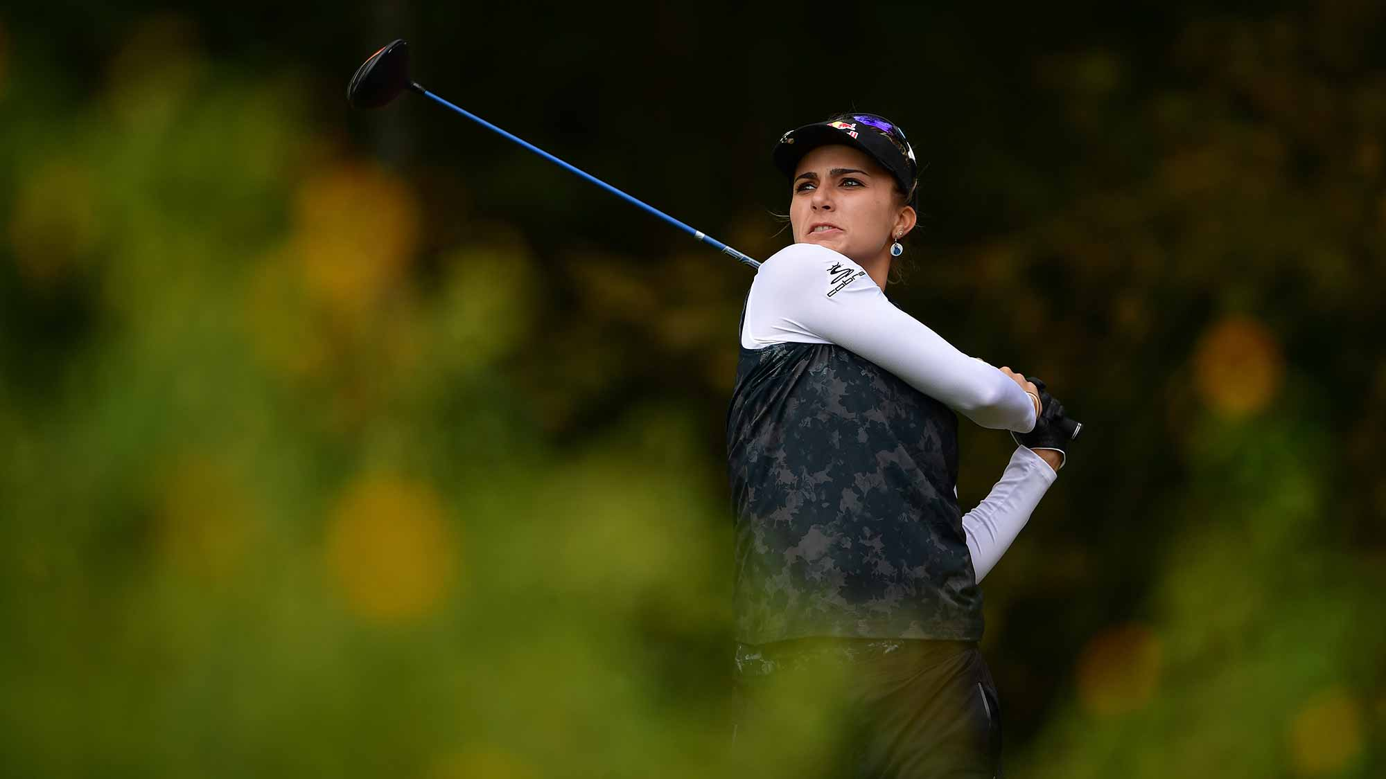 Lexi Thompson during round one of the Evian Championship in Evian-les-Bains, France.