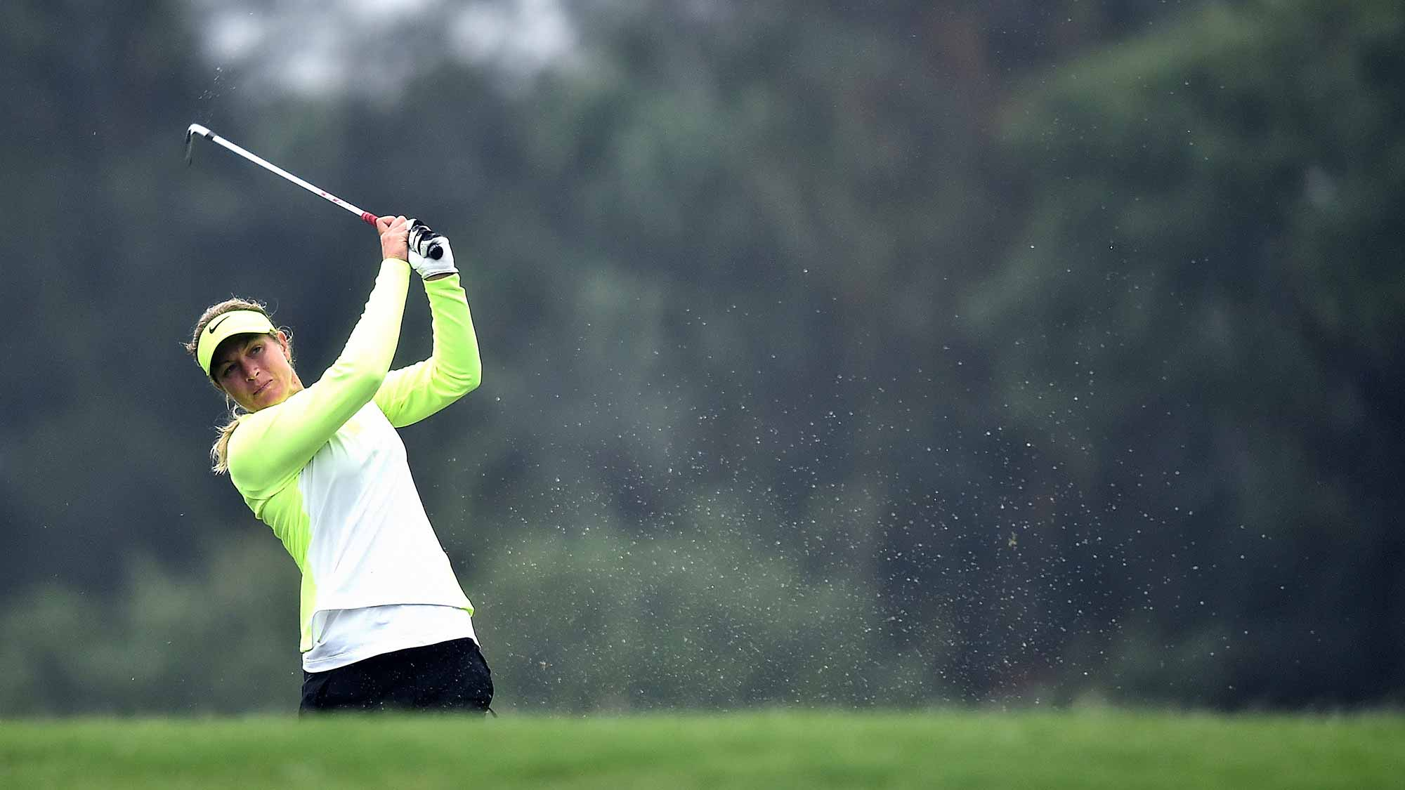 Suzann Pettersen of Norway plays a shot during day two of 2015 Fubon LPGA Taiwan Championship at Miramar Golf Country Club