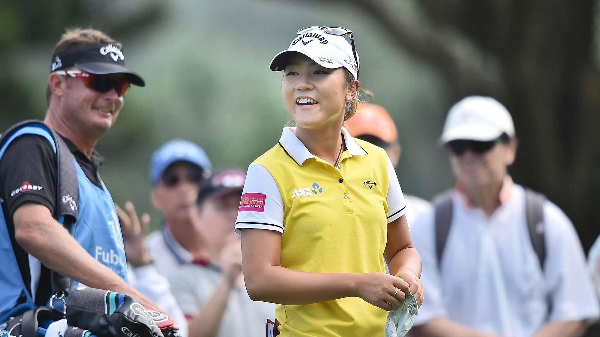 Lydia Ko of New Zealand smiles during the final round of 2015 Fubon LPGA Taiwan Championship on October 25, 2015 in Miramar Resort & Country Club