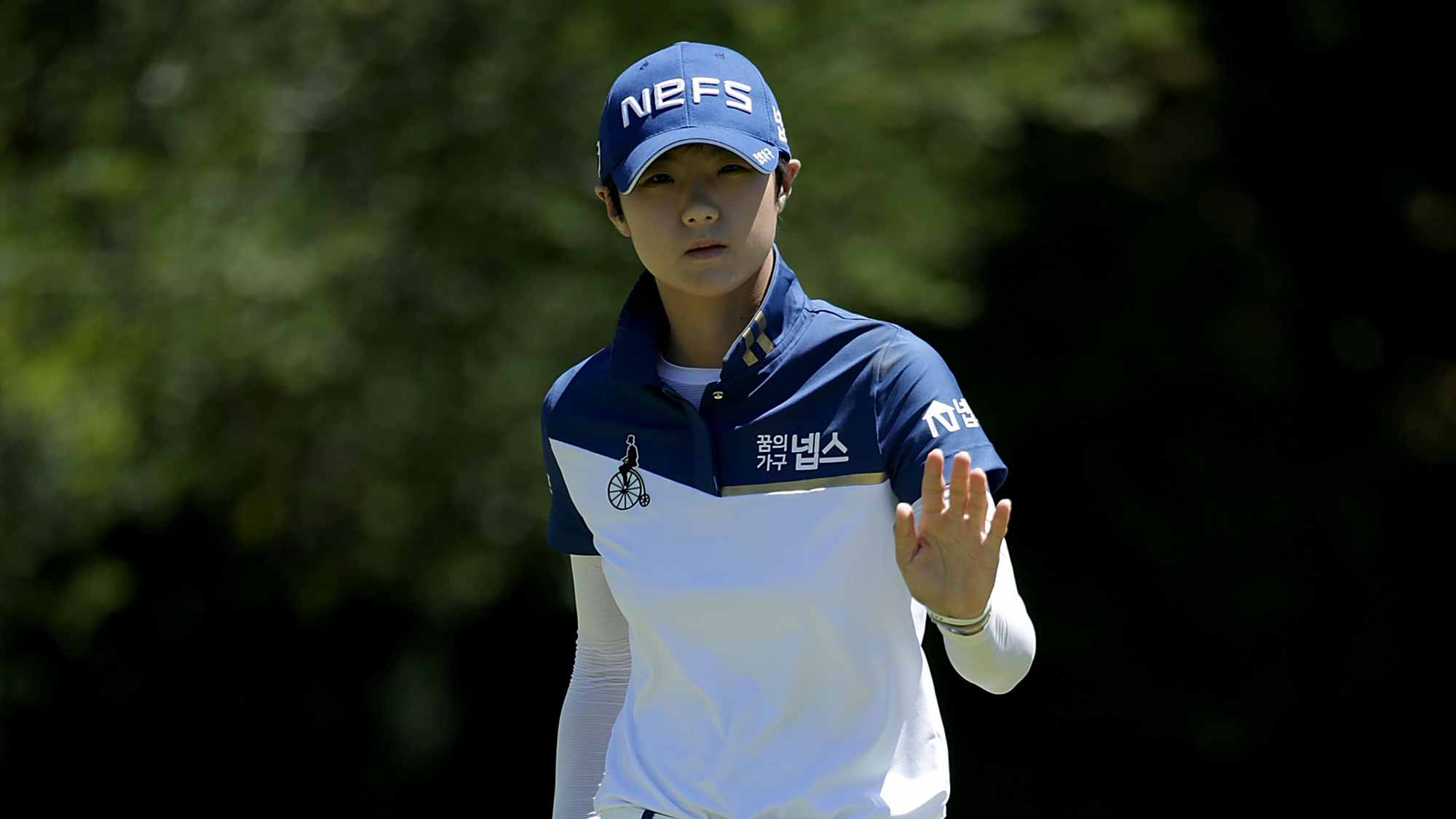 Sung Hyun Park during the third round of the U.S. Women's Open at the CordeValle Golf Club