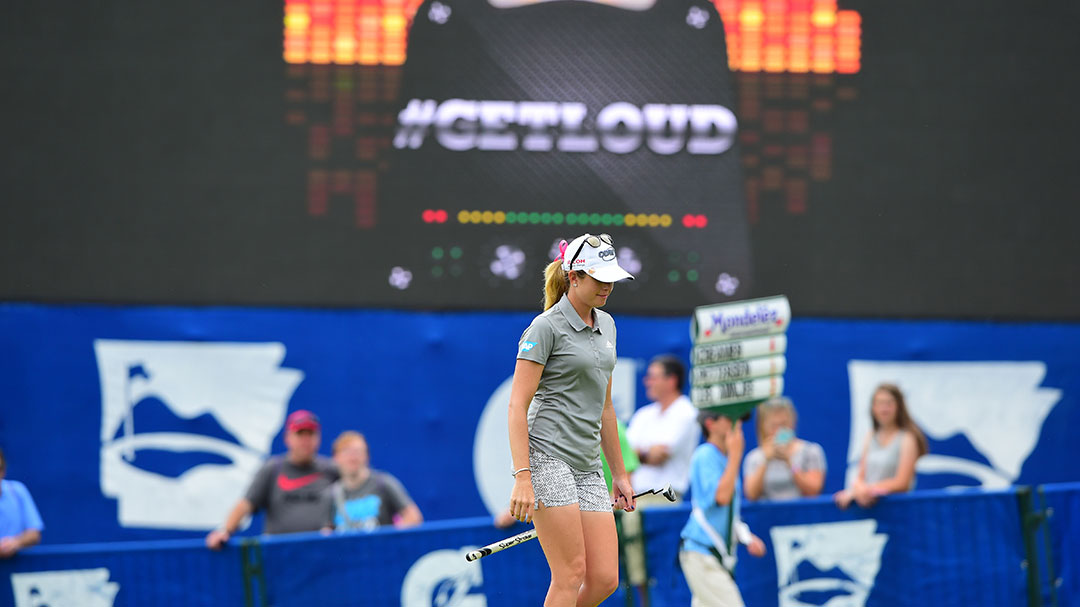 Paula Creamer at the Gatorade Loudest Hole on Tour